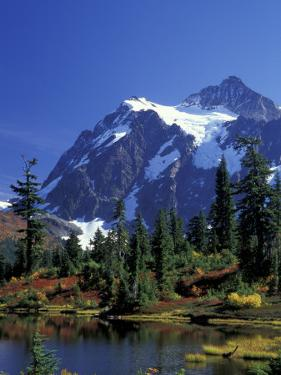 Mount Shuksan and Picture Lake, Heather Meadows, Washington, USA by Jamie & Judy Wild