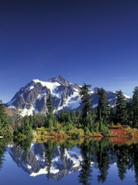 Mount Shuksan at Picture Lake, Heather Meadows, Washington, USA by Jamie & Judy Wild