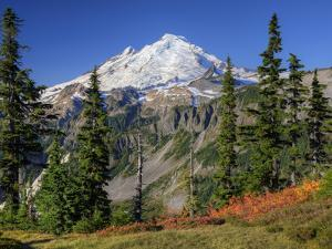 Mt. Baker from Kulshan Ridge at Artist's Point, Heather Meadows Recreation Area, Washington, Usa by Jamie & Judy Wild