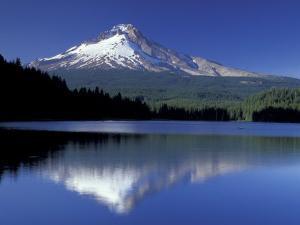 Mt. Hood Reflected in Trillium Lake, Oregon, USA by Jamie & Judy Wild