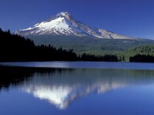Mt. Hood Reflected in Trillium Lake, Oregon, USA by Jamie & Judy Wild