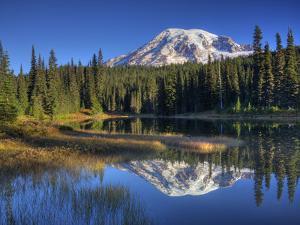 Mt. Rainier Reflected in Reflection Lake, Mt. Rainier National Park, Washington, Usa by Jamie & Judy Wild