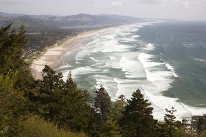 Neahkahnie Beach and Manzanita and Beach from Viewpoint, Oregon, USA by Jamie & Judy Wild