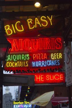 Neon Signs on Bourbon Street, French Quarter, New Orleans, Louisiana, USA by Jamie & Judy Wild