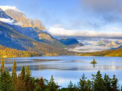 Saint Mary Lake and Wild Goose Island, Glacier National Park, Montana, USA by Jamie & Judy Wild