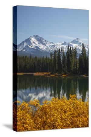 Scott Lake with Sister Mts, Willamette National Forest Oregon, USA by Jamie & Judy Wild