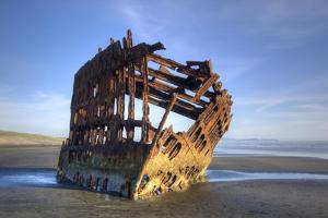 Shipwreck of the Peter Iredale, Fort Stevens State Park, Oregon, USA by Jamie & Judy Wild