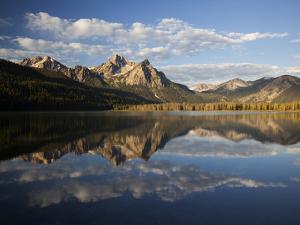 Stanley Lake and Mcgowan Peak, Sawtooth National Recreation Area, Idaho, USA by Jamie & Judy Wild