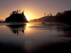 Sunset at Second Beach, Olympic National Park, Washington, USA by Jamie & Judy Wild