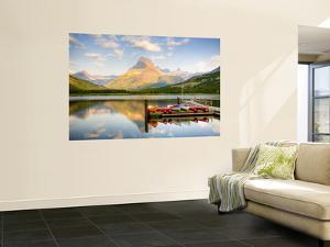 Swiftcurrent Lake, Many Glacier, Glacier National Park, Montana, USA by Jamie & Judy Wild