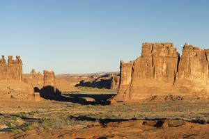 USA, Utah. Arches National Park, Three Gossips, Sheep Rock, and The Organ by Jamie & Judy Wild