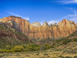 USA, Utah. Zion National Park, Towers of the Virgin, and The West Temple by Jamie & Judy Wild