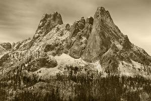USA, WA. Okanogan National Forest, North Cascades, Liberty Bell and Early Winters Spires. by Jamie & Judy Wild