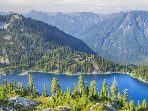 USA, Washington State. Alpine Lakes Wilderness, Snow Lake by Jamie & Judy Wild
