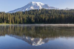 USA, Washington State. Mount Rainier National Park, Mount Rainier from Reflections Lake by Jamie & Judy Wild