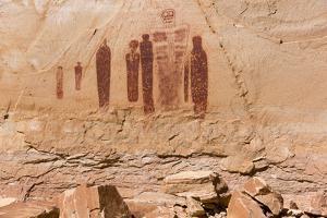 Utah, Canyonlands, Horseshoe Canyon, Great Gallery, Petroglyphs by Jamie & Judy Wild