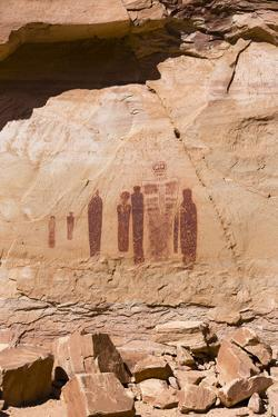 Utah, Canyonlands, Horseshoe Canyon, Great Gallery, Petroglyphs by Jamie & Judy Wild