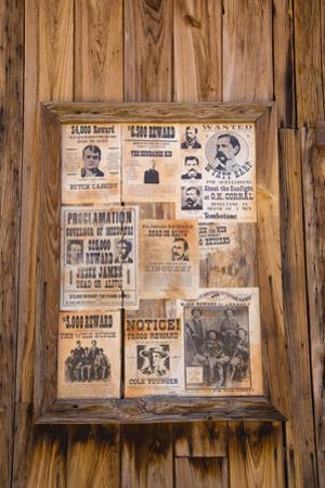 Wanted Posters, Old Tucson Studios, Tucson, Arizona, USA by Jamie & Judy Wild