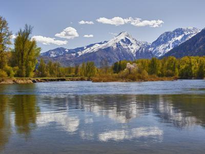 Wenatchee River and Cascade Mountains, Leavenworth, Washington, Usa by Jamie & Judy Wild