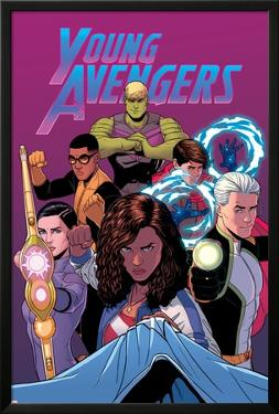 Young Avengers #13 Cover: Hulkling, Prodigy, Wiccan, Noh-Varr, Bishop, Kate, Miss America by Jamie McKelvie
