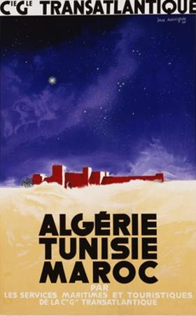 Algerie - Tunisie - Maroc Travel Poster by Jan Auvigne