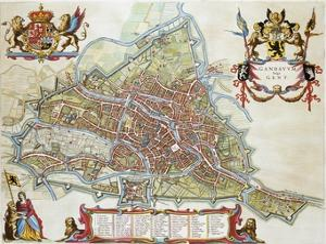 Gandavum, Map of Ghent by Jan Blaeu