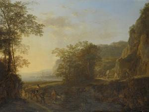 Italian Landscape with a View of a Harbor by Jan Both