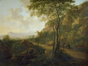 Italianate Landscape with Muleteers by Jan Both