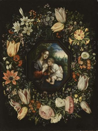 Madonna and Child in a Garland of Flowers, C.1625