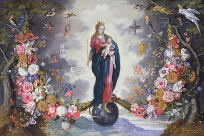 The Virgin and Child Surrounded by a Garland