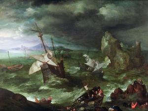 A Sea Storm, C.1594-95 by Jan Brueghel the Elder