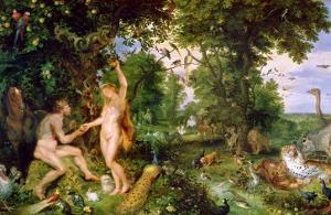 Adam and Eve in Paradise, circa 1610-15 by Jan Brueghel the Elder