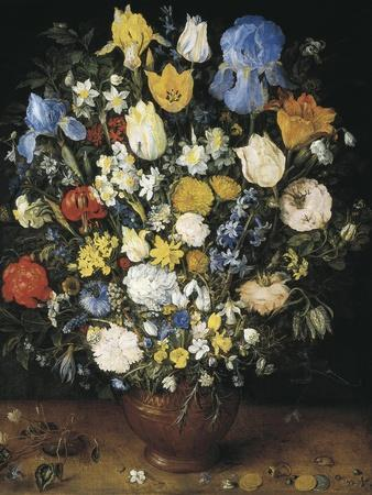 Bouquet in a Clay Vase