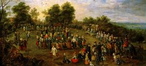 Folk Dance Before the Archdukes by Jan Brueghel the Elder