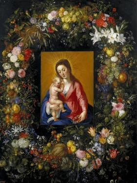 Garland with the Virgin and Child, Ca. 1621 by Jan Brueghel the Elder