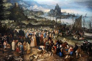 Harbour Scene with Christ Preaching, 1598 by Jan Brueghel the Elder