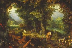 Paradise on Earth by Jan Brueghel the Elder