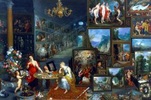 Sight and Smell by Jan Brueghel the Elder