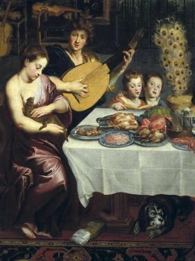 Taste, Hearing and Touch (Detail) by Jan Brueghel the Elder