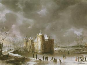 The Castle of Muiden in Winter by Jan Brueghel the Elder