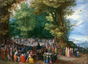 The Sermon on the Mount by Jan Brueghel the Elder