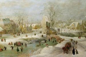 Winter Scene in Holland by Jan Brueghel the Elder