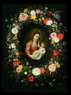 Madonna and Child Surrounded by a Garland of Flowers by Jan Brueghel the Younger