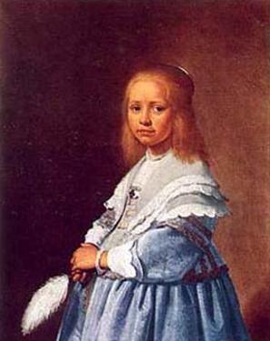 Little Girl in Blue by Jan Cornelisz Verspronck