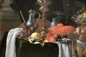 A Banqueting Scene - Still Life by Jan Davidsz. de Heem