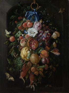 Festoon of Fruit and Flowers - Still Life by Jan Davidsz de Heem