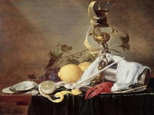 Lobster, Oyster and Lemon by Jan Davidsz de Heem