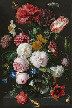Still Life with Flowers in a Glass Vase by Jan Davidsz de Heem & Rachel Ruysch