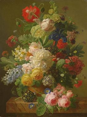 Flowers in a Vase on a Marble Console Table, 1816 by Jan Frans van Dael