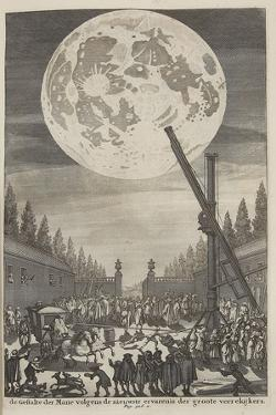 Etching of Lunar Disk by Jan Goeree